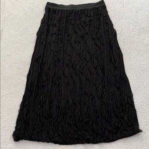 Caren Sport Long Black Ruffle Skirt  Size 3XL